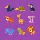 Exotic Animals Fauna Set