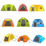 Colorful Tarpaulin Tents Set