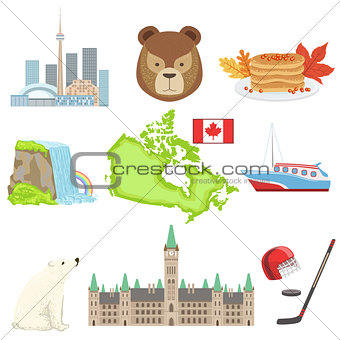 Canadian National Symbols Set