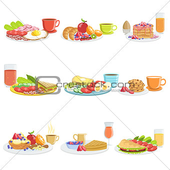 Breakfast Meal Different Sets