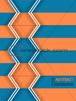 Abstract orange blue arrow brochure
