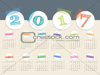 Awesome 2017 color tape calendar design