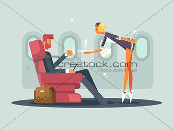 Business class on plane