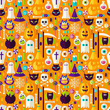 Halloween Holiday Seamless Background