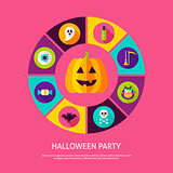 Halloween Party Infographic Concept