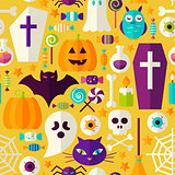 Halloween Party Seamless Pattern