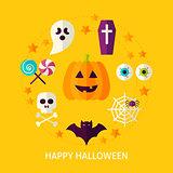 Happy Halloween Flat Concept