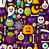 Scary Halloween Seamless Background