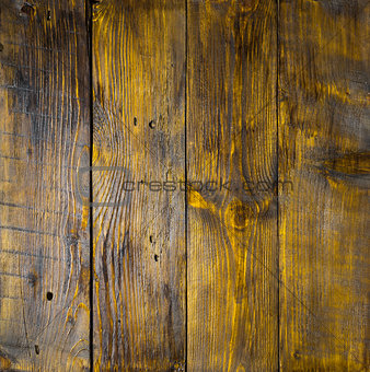 Old hazel wood panels with cracks, scratches, swirls, notch and chips