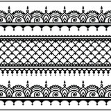 Indian seamless pattern, design elements - Mehndi tattoo style