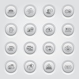 Security and Protection Icons Set. Button Design.