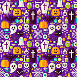 Happy Halloween Seamless Background