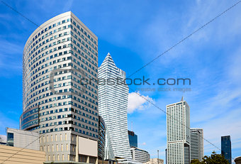 Modern Skyscrapers in Warsaw downtown