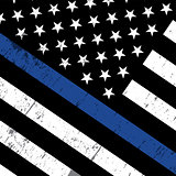 Police Support Flag Icon Illustration