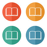 Flat book icon