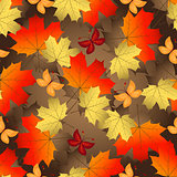 Brown gradient autumn seamless pattern