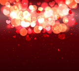Glow Soft Hearts Valentines Day Background