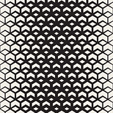 Vector Seamless Black and White Halftone Chevron Grid Pattern