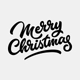 Merry Christmas Lettering Badge