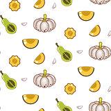Autumn harvest seamless vector pattern.