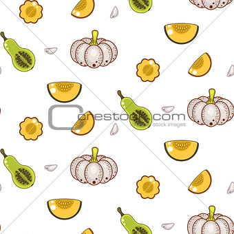 Autumn harvest seamless vector pattern.