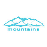Blue mountains. A symbolic image
