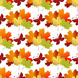 White autumn seamless pattern