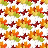 White autumn seamless pattern