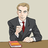 businessman finger pointing at you