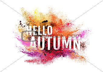 Autumn colorful dust, vector background