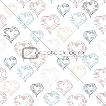 Abstract Hearts on a light background