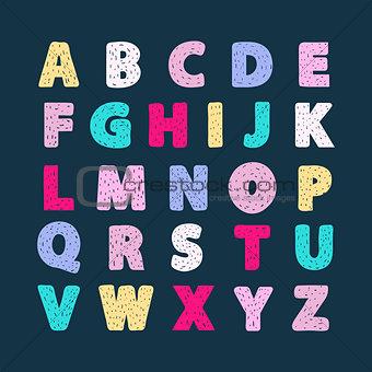 Alphabet vector creative abc