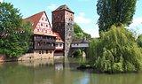 Henkersteg (Handman's bridge) in Nuremberg, Franconia