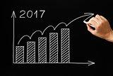 Growth Graph Year 2017 Blackboard Concept