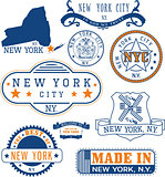 New York City, generic stamps and signs