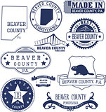 Beaver county, PA, generic stamps and signs