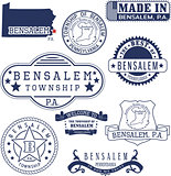 Bensalem township, PA, generic stamps and signs