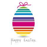 happy easter egg card for you design