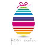 happy easter egg card for you design