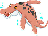 Swimming dinosaur cartoon for you design
