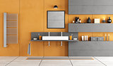 Contemporary bathroom with washbasin