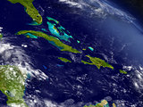North Caribbean from space
