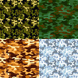Set of military camouflage seamless patterns