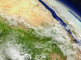 Sudan and South Sudan from space