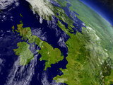 United Kingdom from space