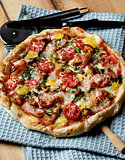 Delicious Mushrooms Pizza