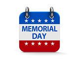 Memorial day icon calendar