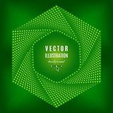 Green abstract background, Futuristic technology style hexagon design elements