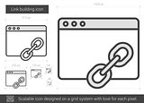 Link building line icon.
