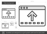 File moving line icon.